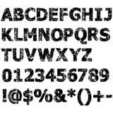 Алфавит Grunge полный Стоковые Изображения RF