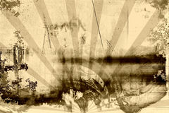 grunge σκουριασμένος τρύγος διανυσματική απεικόνιση