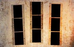 Grunge 35mm照片框架 库存照片