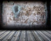 Этап интерьера предпосылки металла Grunge Стоковая Фотография RF