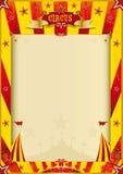 Κίτρινη και κόκκινη αφίσα τσίρκων grunge Στοκ Εικόνα