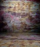 grunge 3d e textura oxidada, interior vazio Imagens de Stock