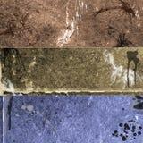 grunge 4 знамен Стоковые Фотографии RF