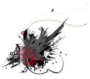 grunge 4 ingen stads- serie Royaltyfria Bilder