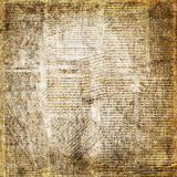 Предпосылка газеты Grunge абстрактная для дизайна Стоковое фото RF