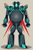 Γκρίζο ρομπότ Grunge Στοκ Εικόνες