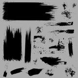 Grunge штрихует векторы Стоковая Фотография RF