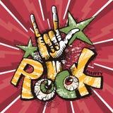 Αφίσα βράχου Grunge Στοκ Εικόνες