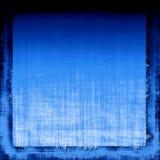 蓝色织品grunge 库存照片