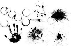 различное grunge элементов установленное Стоковые Изображения
