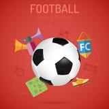 вектор текста космоса футбола плаката grunge рамки эмблемы чашки шарового подпятника подгоняет Стоковые Изображения