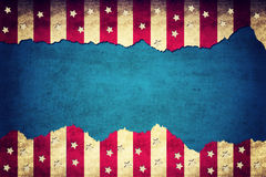 Grunge сорвал флаг США бумаги Стоковая Фотография RF
