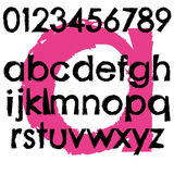 Строчная буква письма алфавита шрифта Grunge полная Стоковое Изображение RF