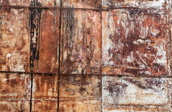 Παλαιός τοίχος μετάλλων grunge με τη σύσταση υποβάθρου σκουριάς Στοκ φωτογραφία με δικαίωμα ελεύθερης χρήσης