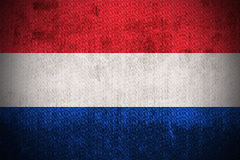 Нидерланды grunge флага Стоковое фото RF