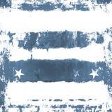 蓝色grunge星形 库存照片
