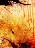 血液滴水grunge格式 免版税图库摄影