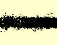 Grunge. Vector illustration of black splashes Stock Images
