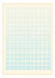 Grunge a4 graph paper square Stock Image
