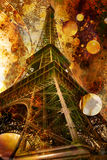 Grunge Abbildung des Eiffelturms Stockfoto