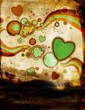 Grunge Abbildung mit Retro- Elementen Lizenzfreies Stockfoto
