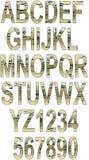 Grunge abecadło z narysami Fotografia Royalty Free