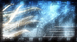 Grunge abstract background. Old film strip, with grungy textured surface, and abstract shapes royalty free illustration