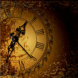 grunge abstract background with antique clocks Royalty Free Stock Photography