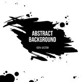 Grunge abstract background. Black ink grunge banner isolated on white background. Vector illustration Royalty Free Stock Image