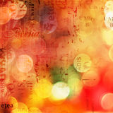 Grunge abstract background with blur boke. Grunge abstract background with old torn posters with blur boke royalty free illustration