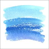 Grunge abstract background brush paint watercolor blue Stock Photography