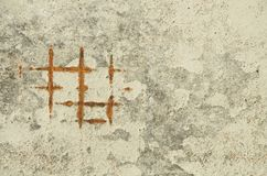 Grunge background of concrete surface with rusty grid stock photos