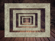 Grunge abstract background with picture frame prospective. Royalty Free Stock Photos