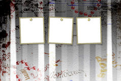Grunge abstract background with torn posters Royalty Free Stock Photos