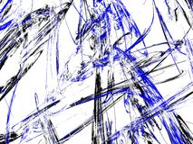 Grunge abstract blue background on white backdrop. Grunge abstract black and blue background on white backdrop. Three colors. Rectangular horizontal shape Stock Photo