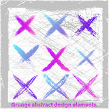 Grunge abstract cross. Vector illustration. Grunge abstract design elements Royalty Free Stock Images