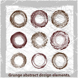 Grunge abstract design elements. Vector illustration. Grunge abstract design elements Stock Image