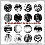 Grunge abstract design elements. Vector illustration. Abstract design elements Royalty Free Stock Photo