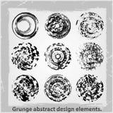 Grunge abstract design elements. Vector illustration. Abstract design elements Royalty Free Stock Photos