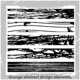 Grunge abstract design elements. Vector illustration. Abstract design elements Stock Photography