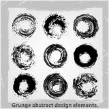 Grunge abstract design elements. Vector illustration. Abstract design elements Stock Image