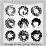 Grunge abstract design elements. Vector illustration. Abstract design elements Stock Images