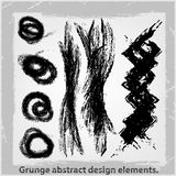 Grunge abstract design elements. Vector illustration. Abstract design elements Stock Photo