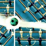 Grunge abstract football game. Grungy football kickers- abstract background Stock Photography