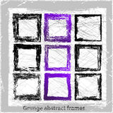 Grunge abstract frames. Vector illustration. Grunge design elements Royalty Free Stock Image