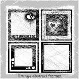 Grunge abstract frames. Vector illustration. Grunge design elements Stock Photos