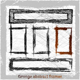 Grunge abstract frames. Stock Image