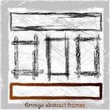 Grunge abstract frames. Vector illustration. Grunge design elements Stock Images
