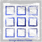 Grunge abstract frames. Vector illustration. Grunge design elements Stock Photography