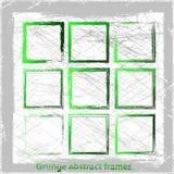 Grunge abstract frames. Vector illustration. Grunge design elements Stock Image